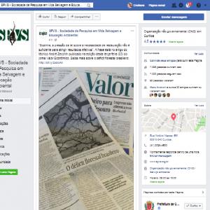 Fanpage da SPVS destaca abordagem na imprensa